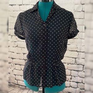 The Limited - Silk sheer silk peplum blouse